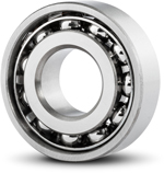 Angular contact ball bearing from the front