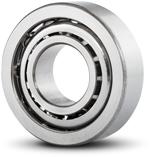 Angular contact ball bearing from the rear