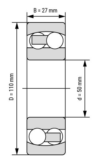 Pendelkugellager 13 cylindrical