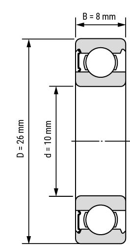 Rillenkugellager 60 RS Zeichnung
