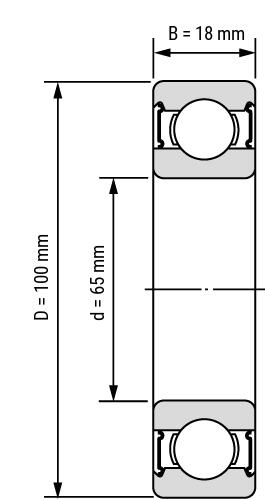 deep groove ball bearing 60 2RS