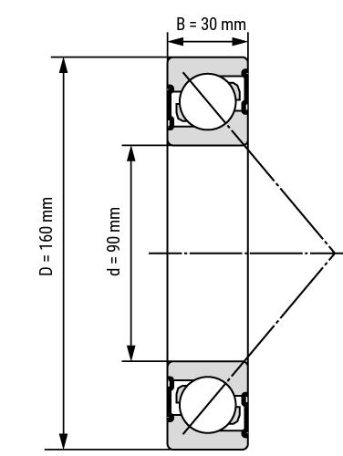 angular ball bearing 72 single row