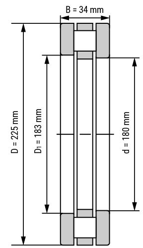 Axial-Zylinderrollenlager 811