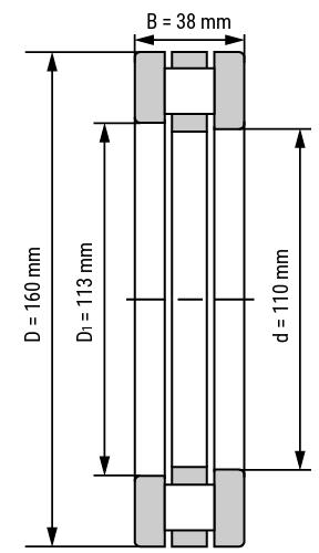 Axial-Zylinderrollenlager 812
