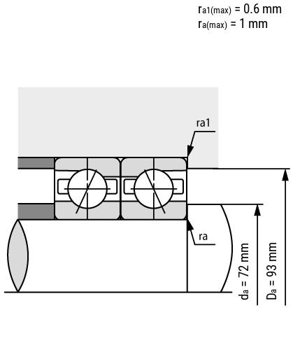 Spindellager B70-E