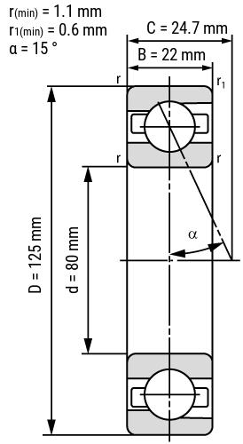 Spindellager B70-C