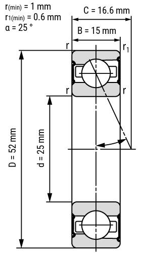 Spindellager B72-E