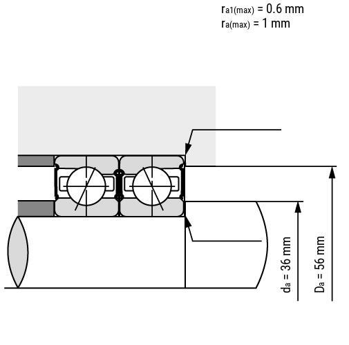 Spindellager B72-C-2RS verbaut