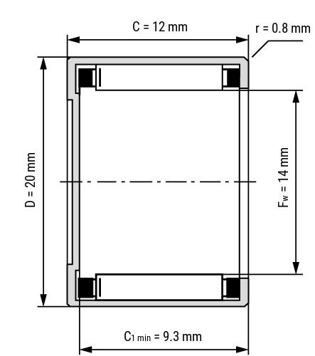 Nadelbüchsen BK Zeichnung