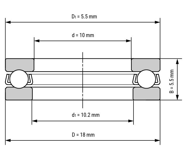 Miniatur Axialkugellager F