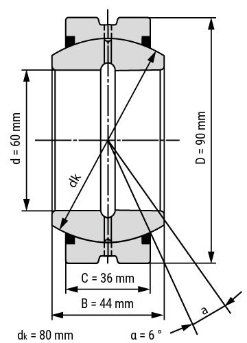 spherical plain bearing GE..ES
