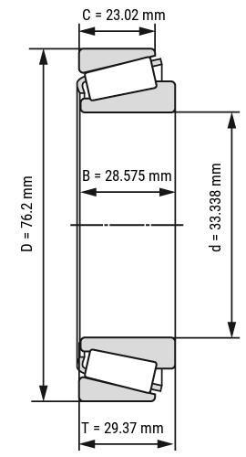 Kegelrollenlager Zoll-Inch