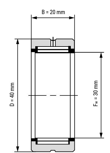 Nadellager NK Zeichnung