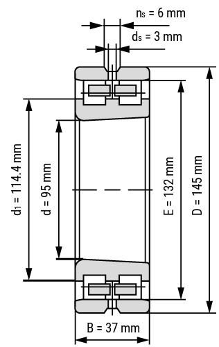 Hochgenauigkeits- Zylinderrollenlager NN30