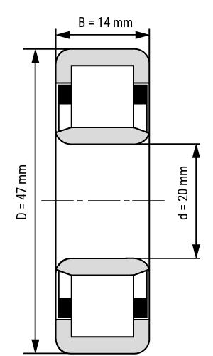 Zylinderrollenlager NU2