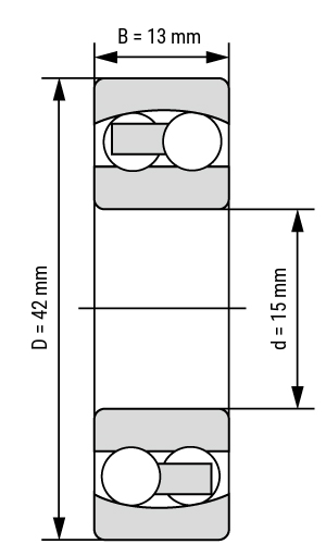 Pendelkugellager SS13 zylindrisch