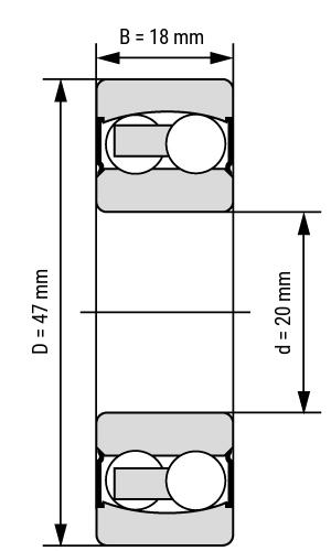 Edelstahl Pendelkugellager SS22 zylindrisch