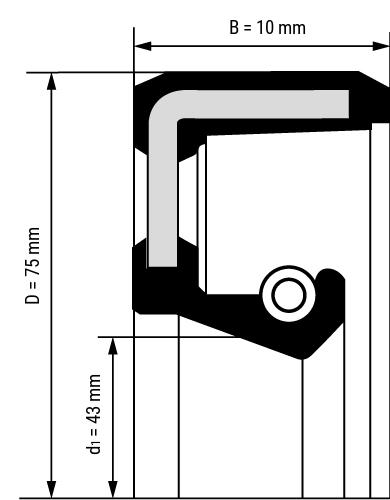 Wellendichtring BA Zeichnung