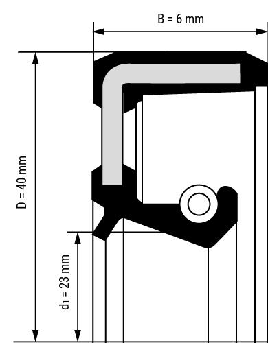 Wellendichtring BASL Zeichnung