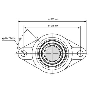 Stainless Steel Flange Bearing / Flange Housing Unit SSUCFL214 - Shaft: 70 mm