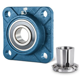 Flange Bearing / Flange Housing Unit with Adapter Sleeve UKF320+H2320 - Shaft: 90 mm
