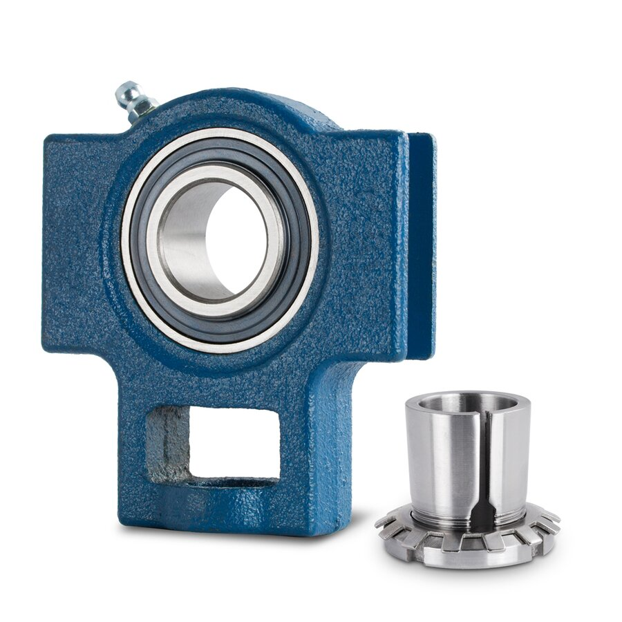 Radial insert ball bearing housing unit with adapter for House bearing