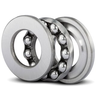 Axial Deep Groove Ball Bearing 51215 75x110x27 mm